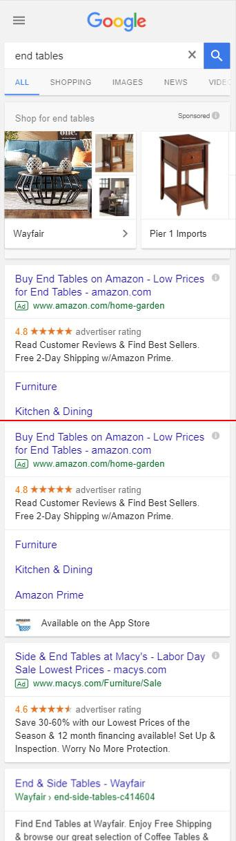 serp google mobile ads